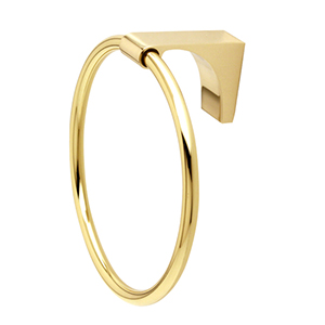 Luna Unlacquered Brass Towel Ring
