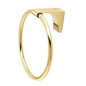 Luna Polished Brass Towel Ring