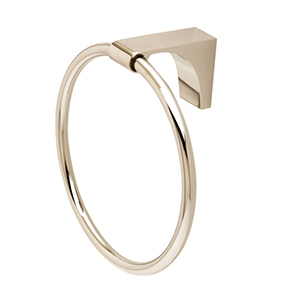 Luna Polished Nickel Towel Ring