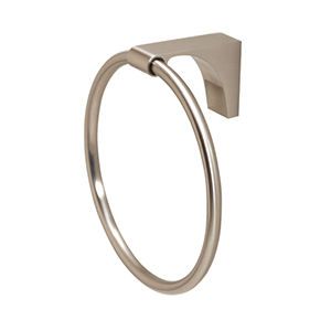 Luna Satin Nickel Towel Ring