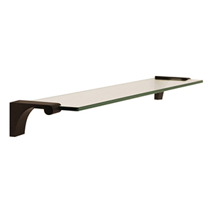Luna Bronze 18-Inch Glass Shelf With Brackets