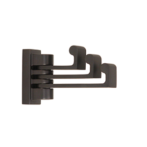 Luna Bronze Swivel Robe Hook
