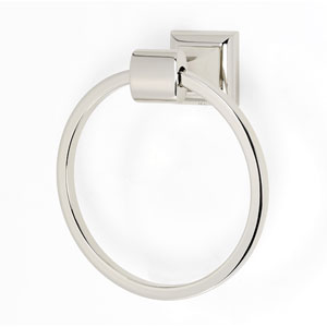 Manhattan Polished Nickel Towel Ring