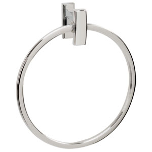 Arch Polished Chrome 7-Inch Towel Ring