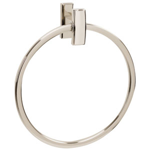 Arch Polished Nickel 7-Inch Towel Ring