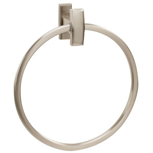 Arch Satin Nickel 7-Inch Towel Ring
