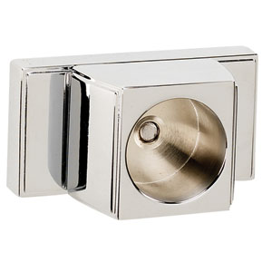 Arch Polished Chrome Shower Rod Brackets Only, Sold In Pairs