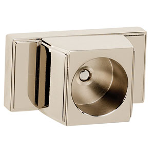 Arch Polished Nickel Shower Rod Brackets Only, Sold In Pairs