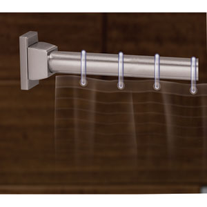 Arch Satin Nickel Shower Rod Brackets Only, Sold In Pairs
