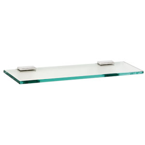 Arch Polished Chrome 18-Inch Glass Shelf w/Brackets