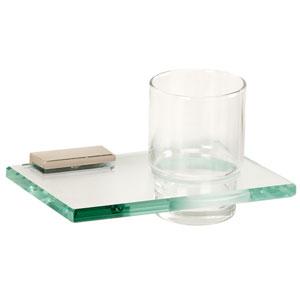 Arch Polished Nickel Tumbler Holder w/Glass