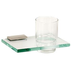 Arch Satin Nickel Tumbler Holder w/Glass