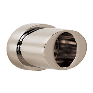 Contemporary III Polished Nickel Shower Rod Brackets Only, Sold In Pairs