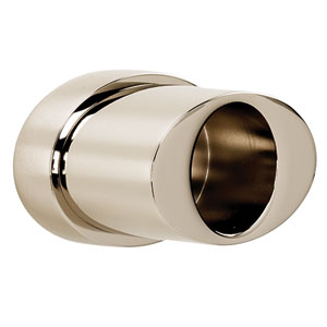 Contemporary III Satin Nickel Shower Rod Brackets Only, Sold In Pairs