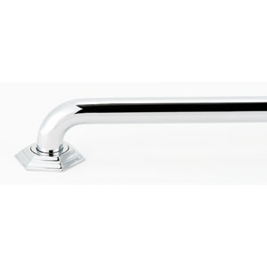 Nicole Polished Chrome Grab Bar Brackets Only
