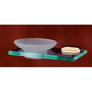 Nicole Polished Brass Soap Dish w/Holder