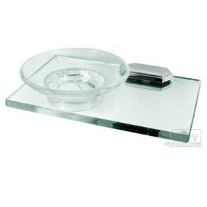 Nicole Polished Chrome Soap Dish w/Holder