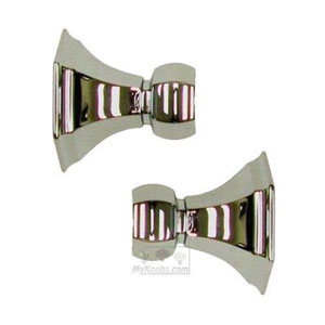 Nicole Polished Nickel Shower Rod Brackets Only, Sold In Pairs
