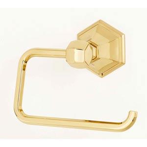 Nicole Polished Brass Single Post Tissue Holder