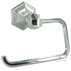 Nicole Polished Nickel Single Post Tissue Holder