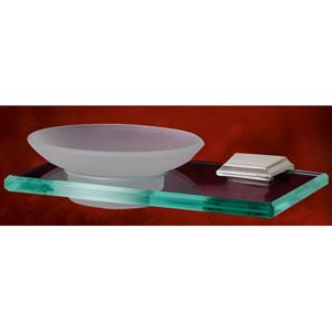 Geometric Polished Chrome Soap Holder w/Dish