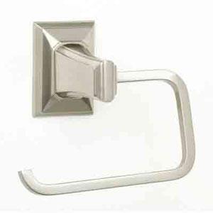 Geometric Satin Nickel Tissue Holder Single Post