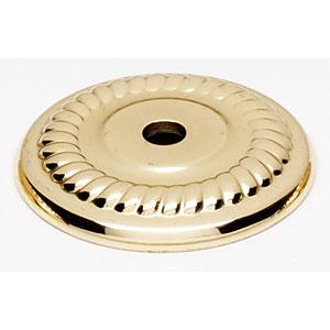 Polished Brass 1 1/4-Inch Backplate