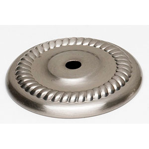 Satin Nickel 1 1/2-Inch Backplate
