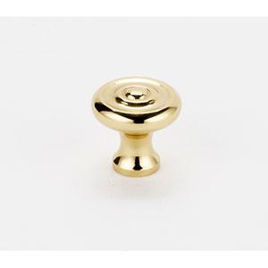 Polished Brass 3/4-Inch Knob