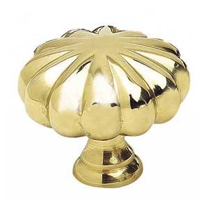 Traditional Polished Brass Knob