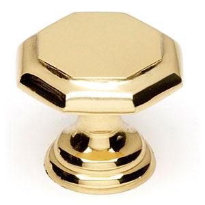 Polished Brass 1-Inch Knob