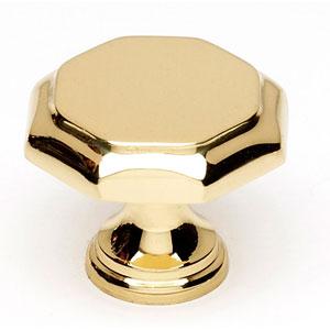 Polished Brass 1 1/4-Inch Knob
