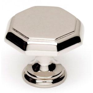 Polished Nickel 1 1/4-Inch Knob