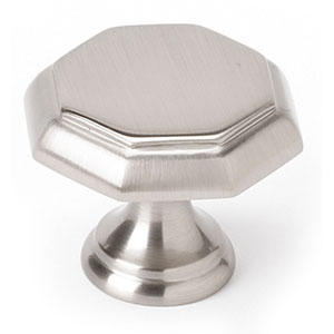 Satin Nickel 1 1/4-Inch Knob