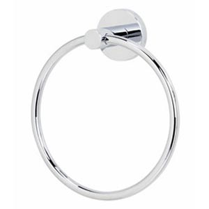 Contemporary Polished Chrome Towel Ring