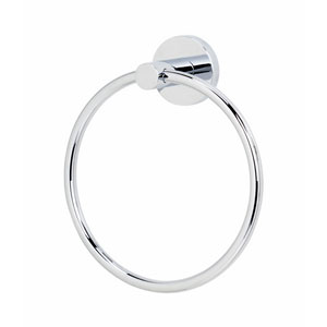 Contemporary I Satin Nickel Towel Ring