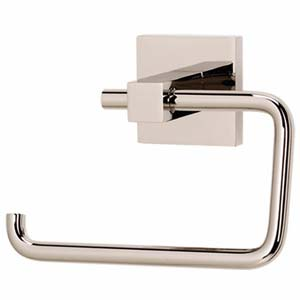 Contemporary II Polished Nickel Single Post Toilet Paper Holder