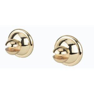 Yale Polished Brass Shower Rod Brackets Only, Sold In Pairs