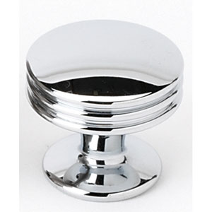 Polished Chrome 1 1/8-Inch Knob