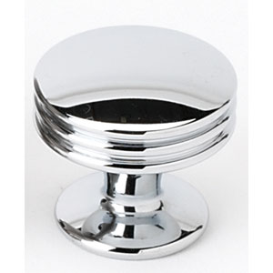 Polished Chrome 1 3/8-Inch Knob
