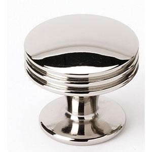 Polished Nickel 1 3/8-Inch Knob