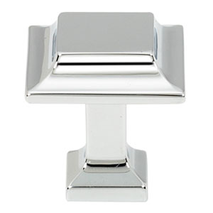 Polished Chrome 1-Inch Square Knob