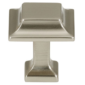 Satin Nickel 1-Inch Square Knob
