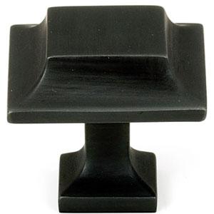 Bronze 1 1/4-Inch Square Knob