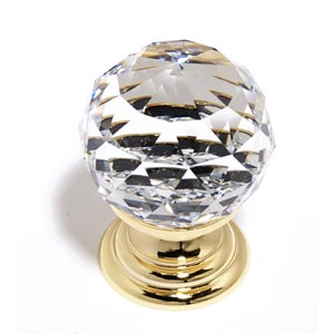 Crystal Gold 30 mm Spherical Knob