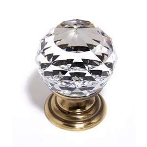 Crystal Polished Antique 30 mm Spherical Knob