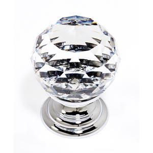 Crystal Polished Chrome 30 mm Spherical Knob