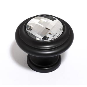 Crystal Bronze 20 mm Round Knob