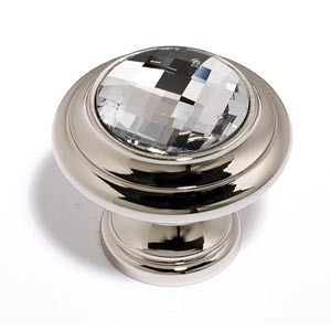 Crystal Polished Nickel 20 mm Round Knob