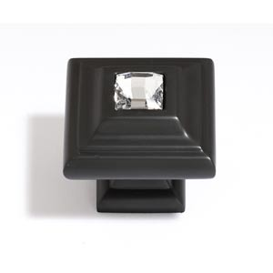 Crystal Bronze 10 mm Small Square Knob
